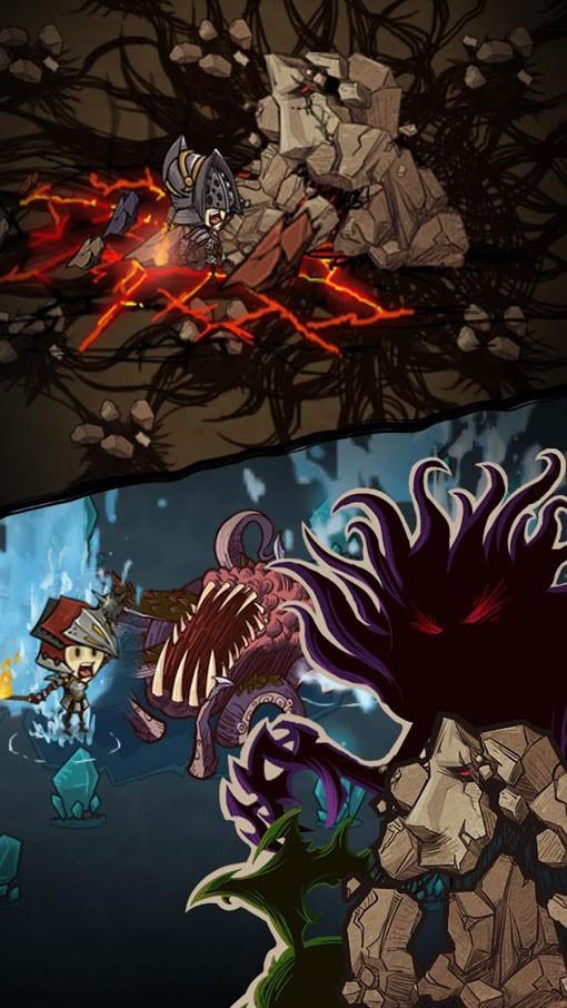 دانلود The Greedy Cave 2.6.0 بازی نقش آفرینی غار حریص اندروید + مود