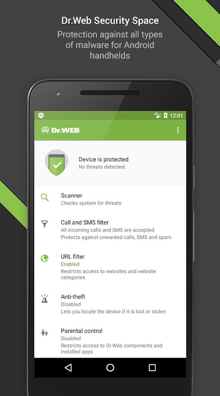 Dr.Web Security Space Life 12.3.1 دانلود آنتی ویروس دکتر وب اندروید + کلید