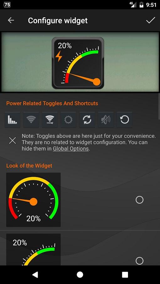 Gauge Battery Widget Pro 5.3.2 دانلود ویجت نمایش درصد باتری اندروید