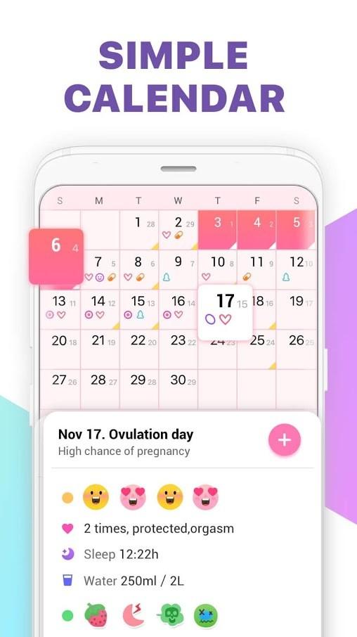 دانلود Period Tracker 1.47.49 – برنامه قاعدگی و پریود اندروید