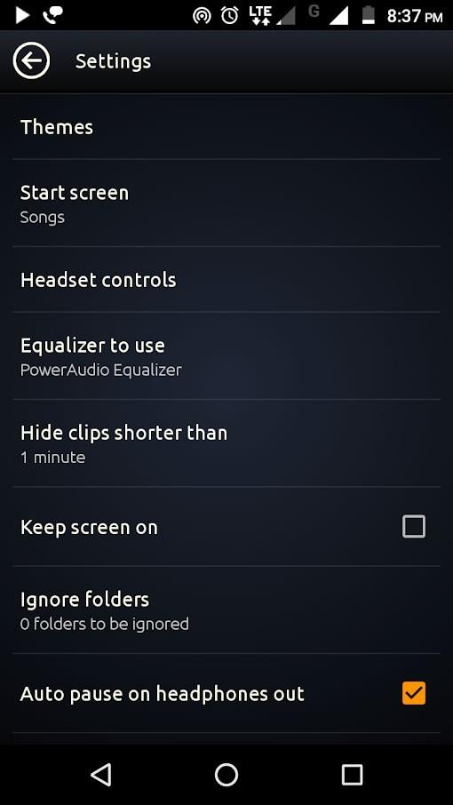 PowerAudio Pro Music Player 8.1.1 دانلود موزیک پلیر حرفه ای اندروید