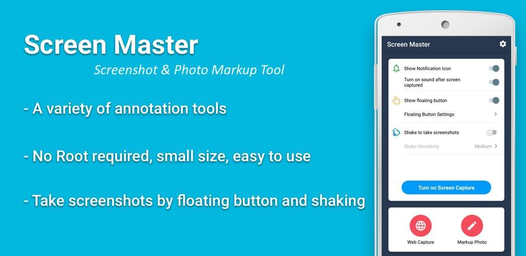 Screen Master Pro 1.6.4.2 برنامه عکس گرفتن از صفحه گوشی اندروید بدون روت
