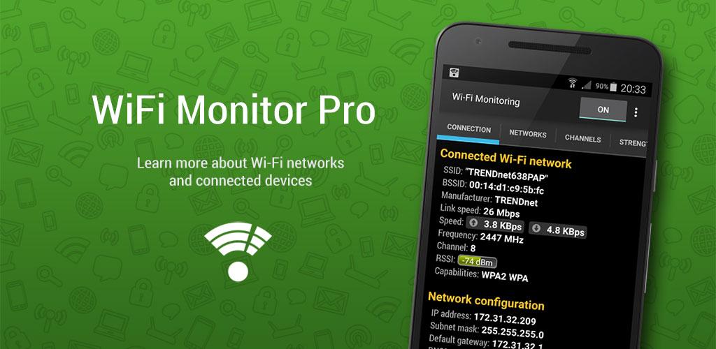 WiFi Monitor Pro 1.9 دانلود نرم افزار کنترل وای فای اندروید