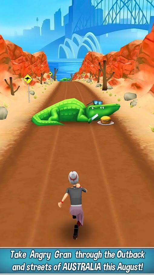 Angry Gran Run 1.70 دانلود بازی پیرزن عصبانی دونده اندروید + مود