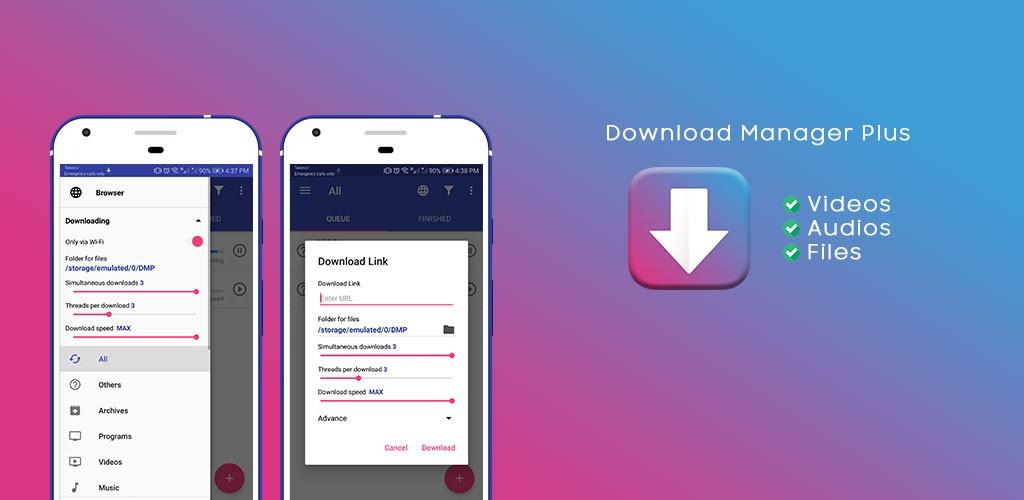 Download Manager Plus Pro 1.3.1 نرم افزار دانلود منیجر قوی اندروید