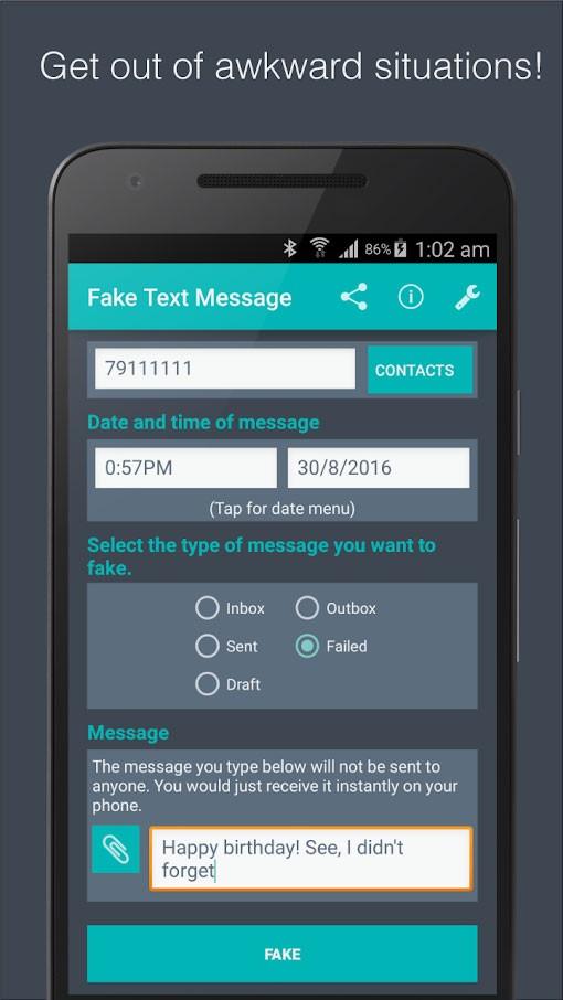 Fake Text Message Premium 5.3 دانلود برنامه ایجاد پیامک جعلی اندروید