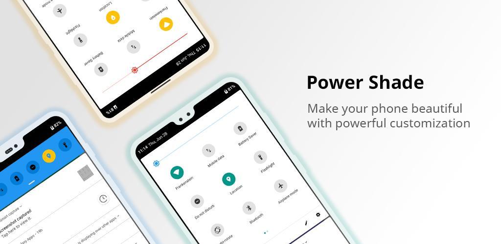 دانلود Power Shade Pro 15.88 برنامه تغییر نوار وضعیت اندروید