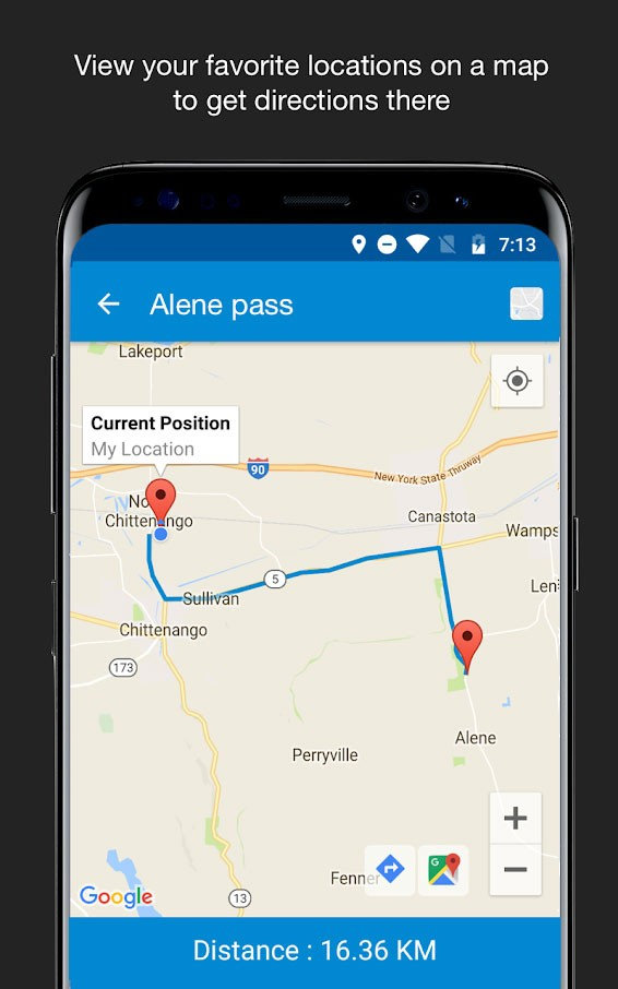 Save Location GPS Pro 4.9 دانلود برنامه ذخیره مکان روی نقشه