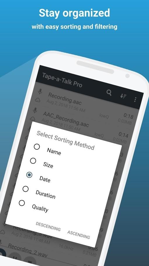 Tape-a-Talk Pro Voice Recorder 2.0.8 ضبط صدا با کیفیت بالا اندروید