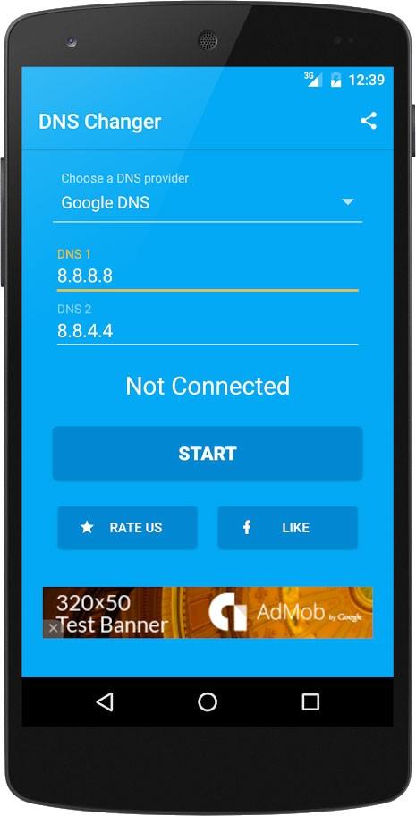 DNS Changer Pro (no root 3G/WiFi) 1120r تغییر DNS اندروید بدون روت