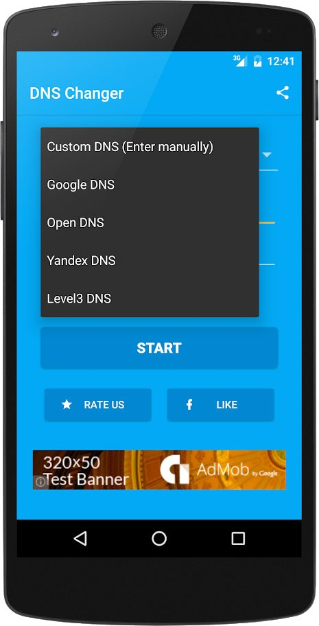 DNS Changer Pro (no root 3G/WiFi) 1106 تغییر DNS اندروید بدون روت