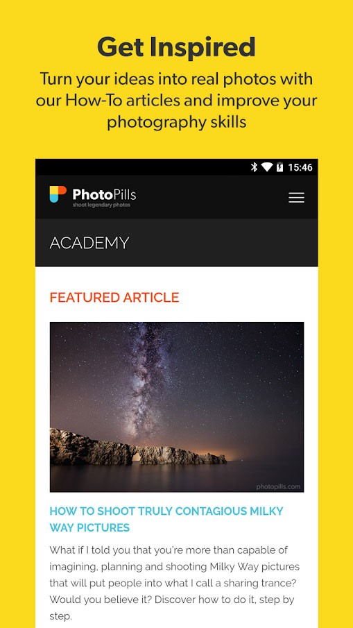 دانلود PhotoPills 1.6.3 – برنامه عکاسی در بهترین زمان ها اندروید