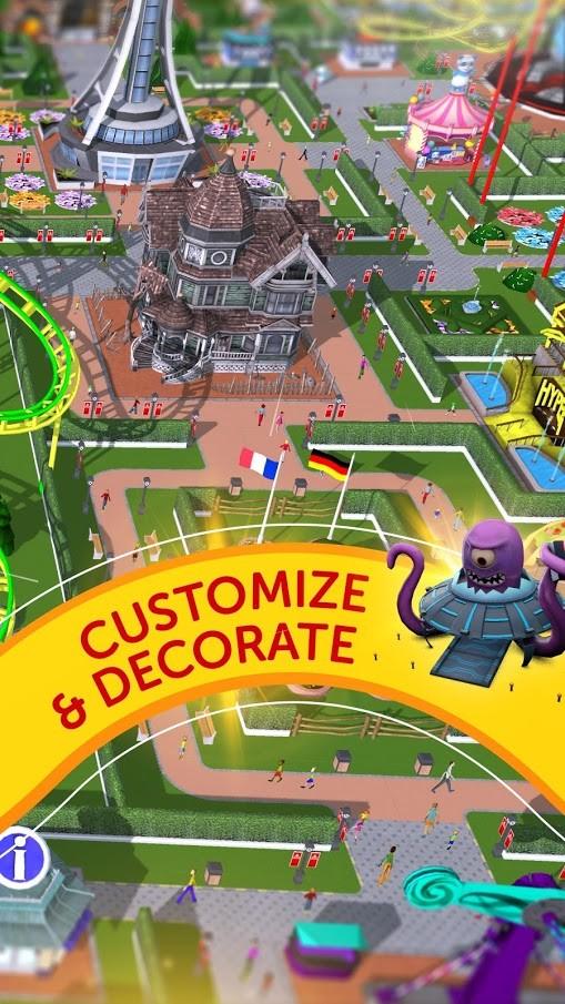 دانلود RollerCoaster Tycoon Touch 3.16.11 ساخت شهر بازی اندروید + مود