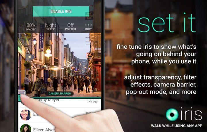 Iris: Walk While Using Any App 1.10 دانلود اپلیکیشن آیریس دوربین پس زمینه