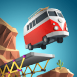 Poly Bridge 1.2.2 دانلود بازی فکری پل سازی اندروید