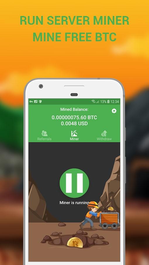 Cloud Bitcoin Miner 4.0 نرم افزار استخراج بیت کوین با موبایل