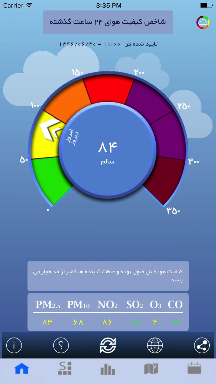 دانلود Tehran Air 1.9.0 – اپلیکیشن کیفیت هوای تهران اندروید و iOS