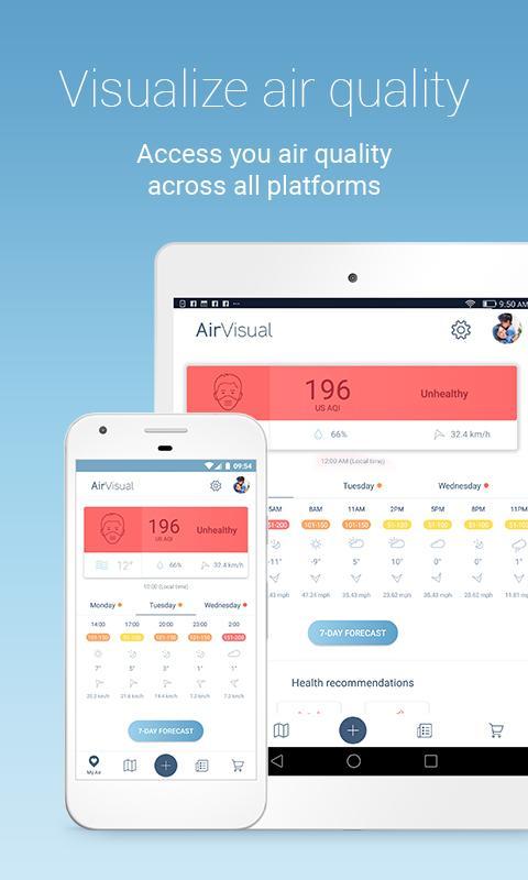دانلود Air Quality | AirVisual 6.0.1-4.5 برنامه سنجش آلودگی هوا اندروید