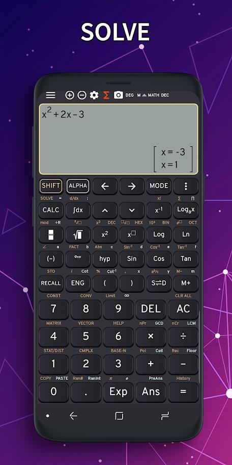 Math Camera 991 ES Premium 3.9.1 ماشین حساب علمی کامل اندروید