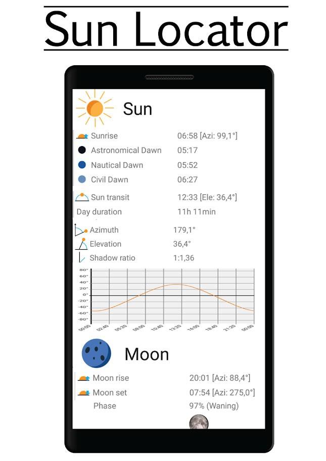 دانلود Sun Locator Pro 4.11 برنامه پیش بینی مسیر حرکت خورشید و ماه