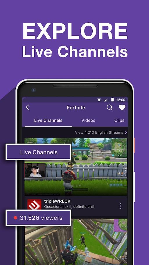 Twitch 7.4.1 دانلود برنامه توییچ اندروید مشاهده آنلاین بازی گیمرها