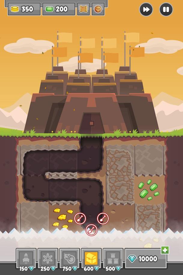 Digfender 1.3.5 دانلود بازی برج دفاعی حفاری اندروید + مود
