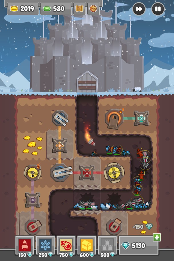 دانلود Digfender 1.4.6 بازی برج دفاعی حفاری اندروید + مود