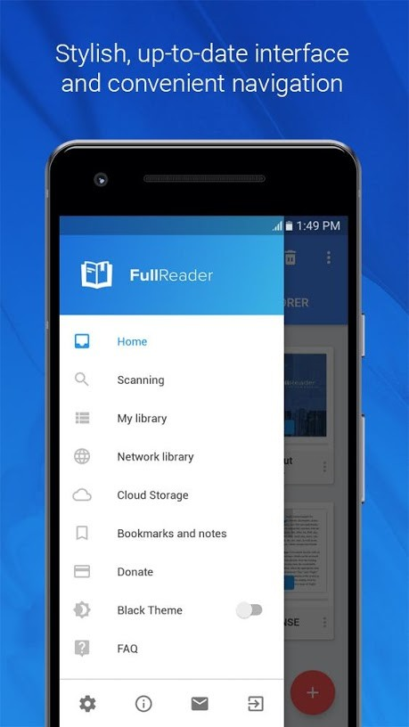 دانلود FullReader – all e-book formats reader Pro 4.2.1 کتاب خوان قدرتمند اندروید