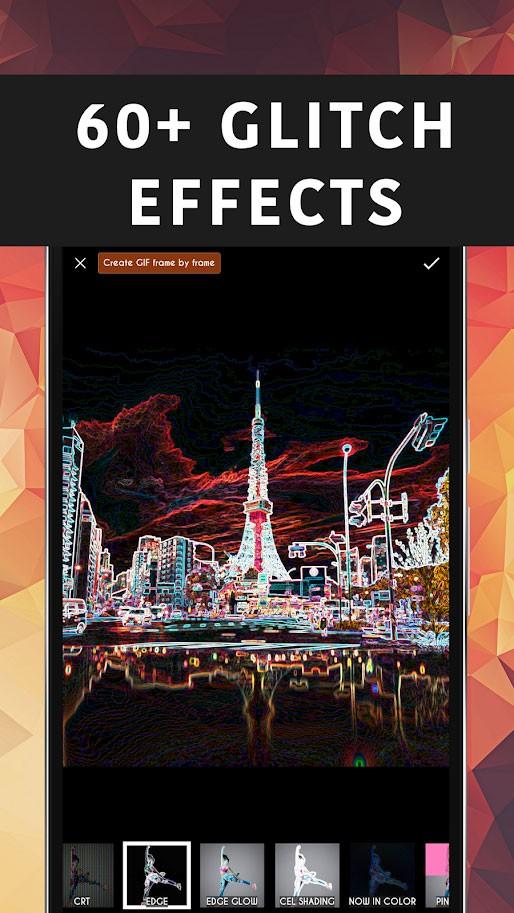 Glitcho – Glitch Video & Photo Effects Premium 1.2.4 برنامه گلیچ عکس و فیلم