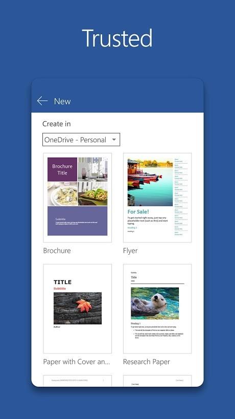 Microsoft Word 16.0.11425.20132 Final دانلود مایکروسافت ورد اندروید
