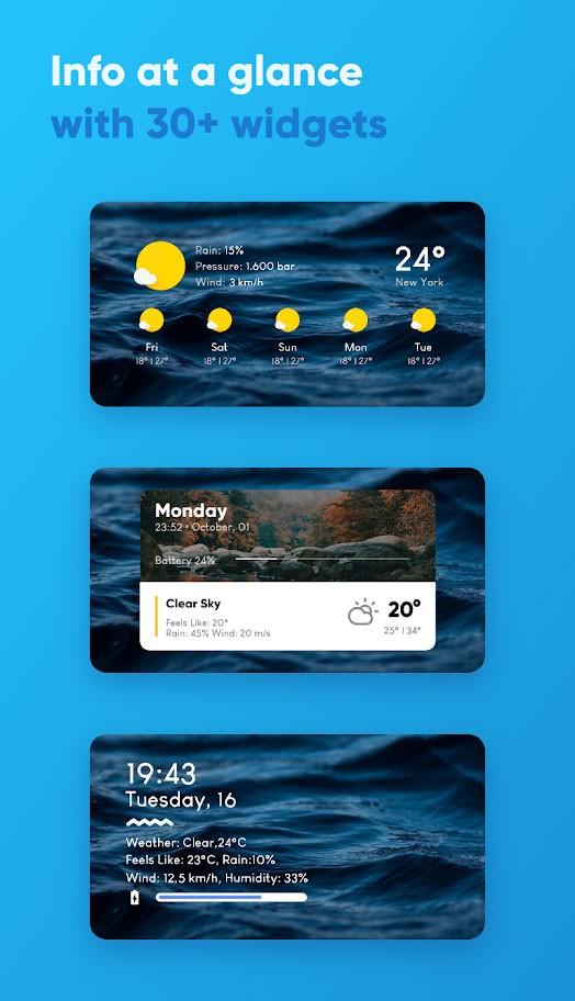 دانلود Overdrop Weather Pro 1.4.16 برنامه وضعیت آب و هوا اندروید