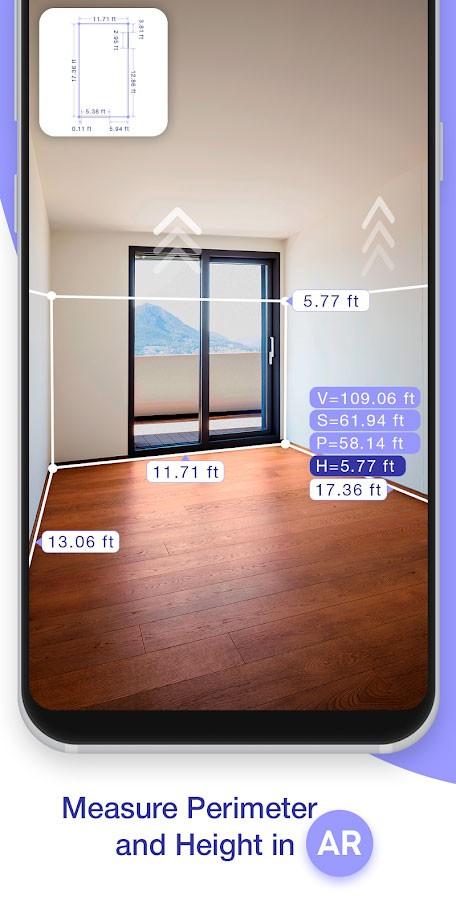 AR Plan 3D Ruler 1.6 دانلود نرم افزار اندازه گیری واقعیت افزوده اندروید
