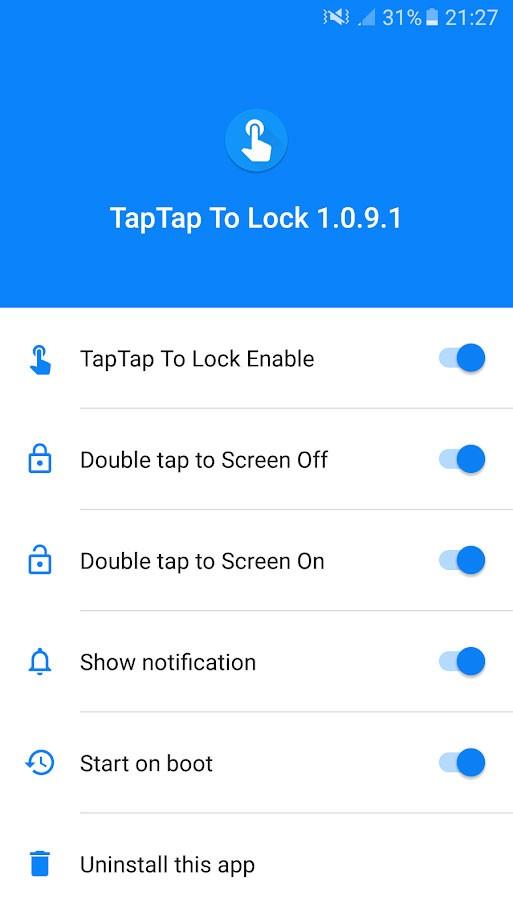 Double Tap Screen On and Off Pro 1.1.2.9 – روشن و خاموش کردن صفحه با ضربه زدن