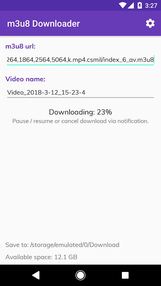 m3u8 Video Downloader Pro 0.9.99 نرم افزار دانلود فرمت فایل m3u8 اندروید