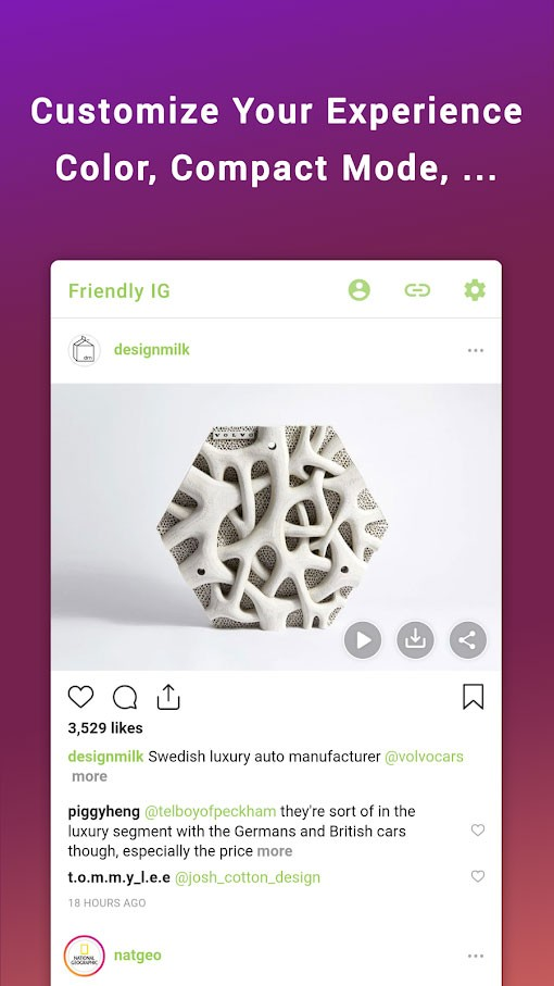 Friendly for Instagram Premium 1.1.01 دانلود اینستا دانلودر برای اندروید