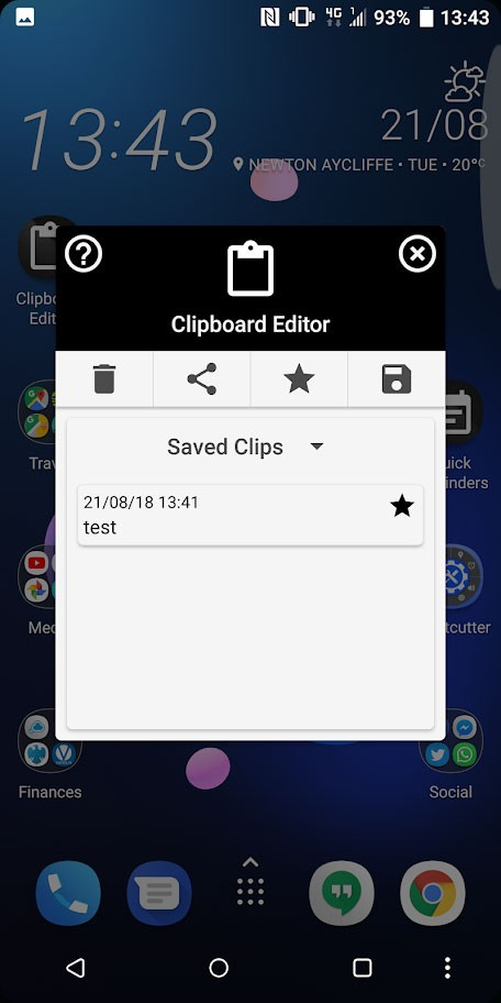 System Clipboard Editor 3.6 دانلود برنامه مدیریت کلیپ بورد اندروید