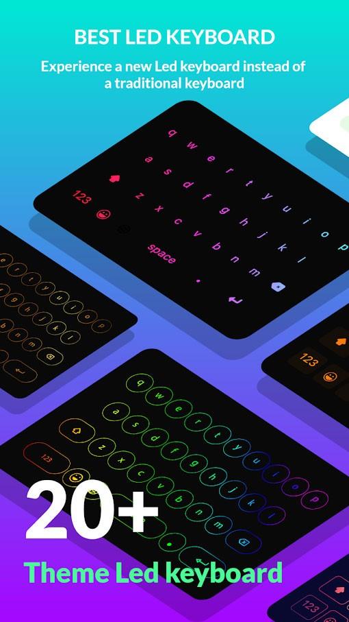 LED Keyboard Lighting Pro 5.3.9 دانلود برنامه کیبورد رنگارنگ اندروید