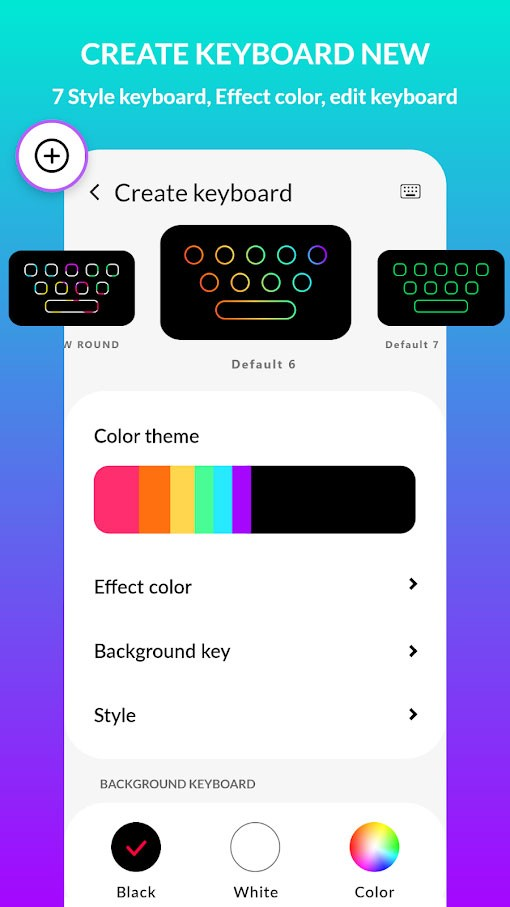 دانلود LED Keyboard Lighting Pro 5.8.29 – برنامه کیبورد رنگارنگ اندروید