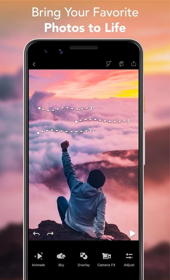 دانلود Motionleap Pro 1.3.6 برنامه متحرک کردن عکس های ساکن اندروید