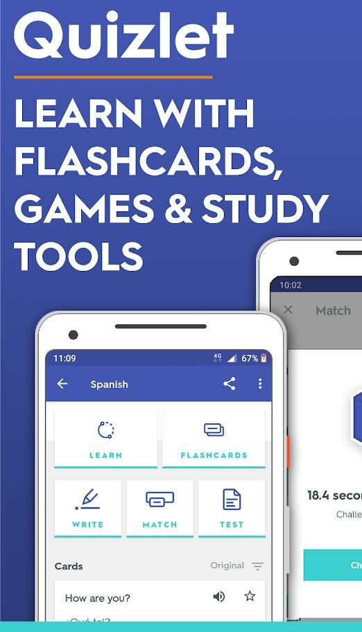 Quizlet Plus 4.25.1 دانلود برنامه کوییزلت آموزش زبان با فلش کارت اندروید