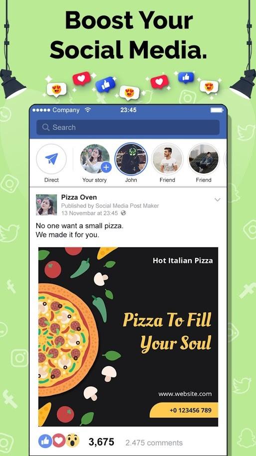 Social Media Post Maker PRO 23.0 دانلود برنامه ساخت پست برای رسانه های اجتماعی