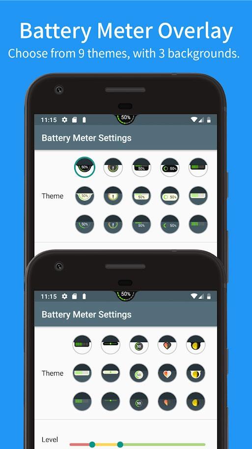 دانلود Battery Meter Overlay Pro 3.6.1 – نمایش درصد شارژ باتری اندروید