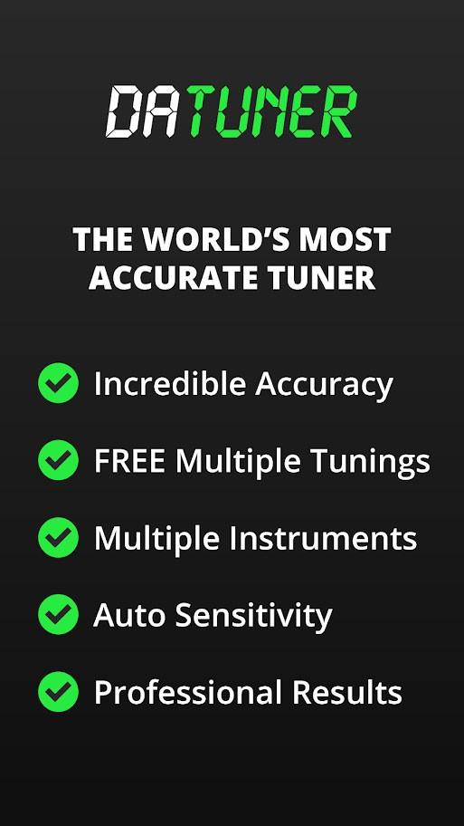 DaTuner Pro 3.108 دانلود برنامه تیونر گیتار، ویولن و … برای اندروید