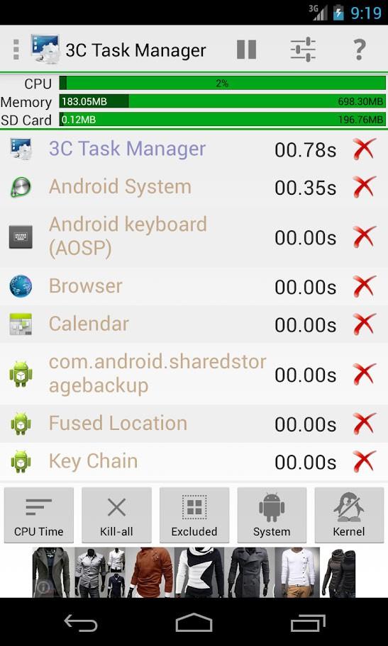 دانلود 3C Task Manager Pro 3.3.2 برنامه تسک منیجر اندروید