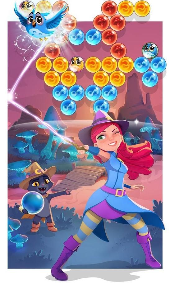 دانلود Bubble Witch 3 Saga 6.10.5 بازی جادوگر حباب 3 اندروید + مود