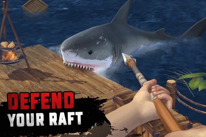 دانلود Survival on Raft: Ocean Nomad 1.181 بازی بقا در اقیانوس اندروید + مود