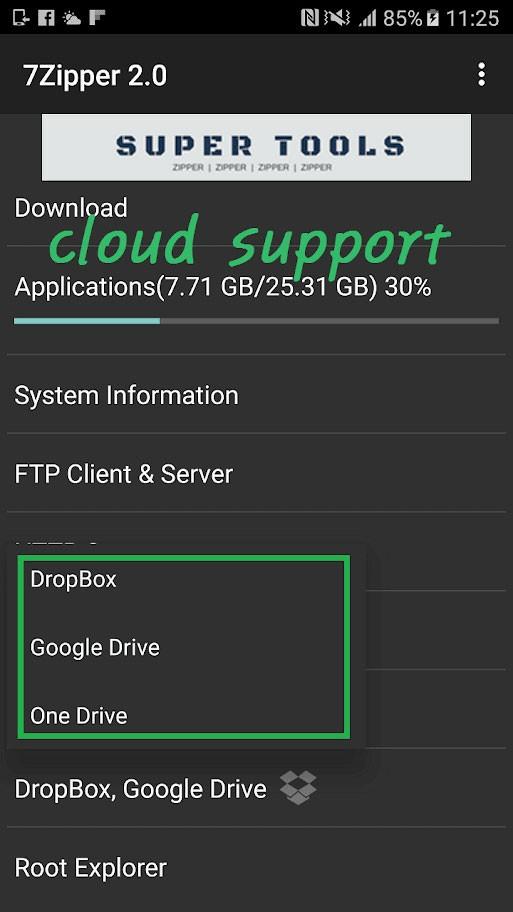 دانلود 7Zipper 2.0 (7zip, rar, zip) Full 2.9.18 مدیریت فایل فشرده اندروید