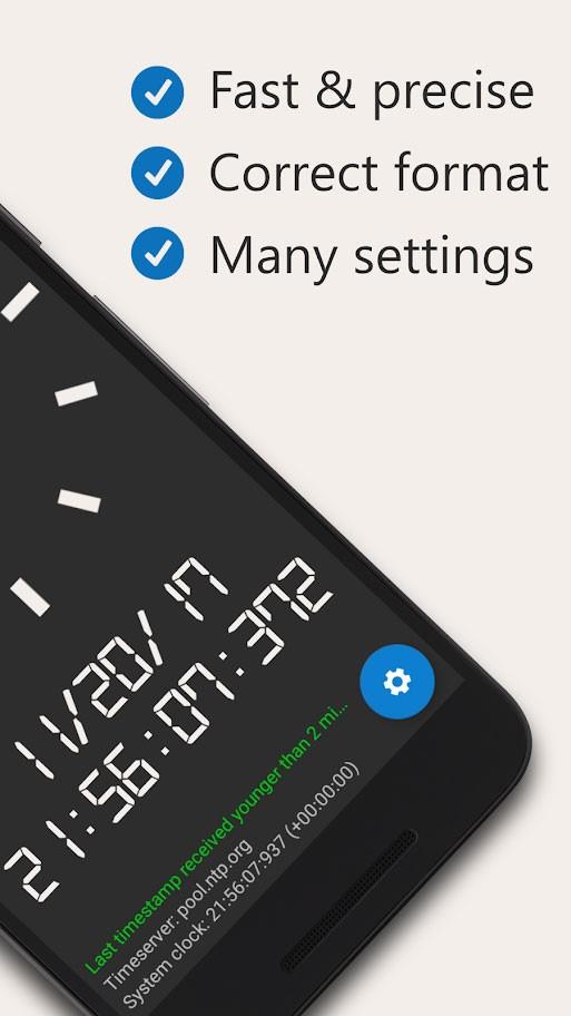 دانلود AtomicClock — NTP Time (with widget) Pro 1.7.0 ساعت اتمی اندروید