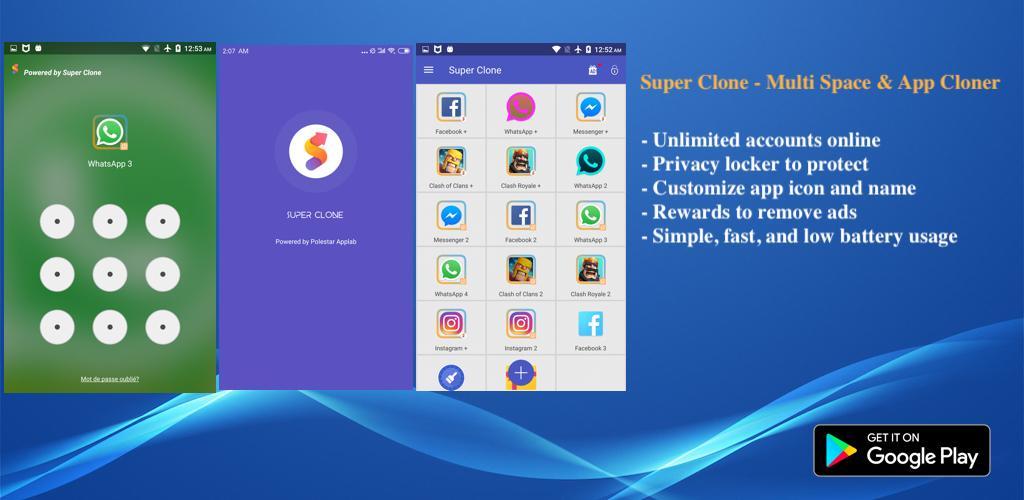 دانلود Multi Clone Premium 3.6.10.1118 – کلون برنامه و بازی اندروید