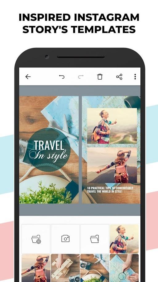 دانلود Posters: Insta Story Maker, Animated Story editor Premium 1.4 اندروید